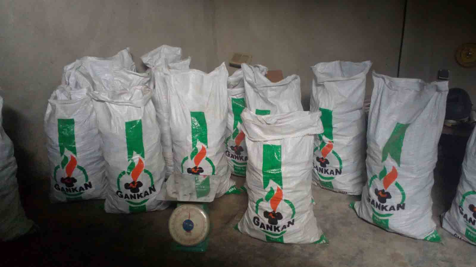 Bags of charcoal produced by Almighty Services Plus