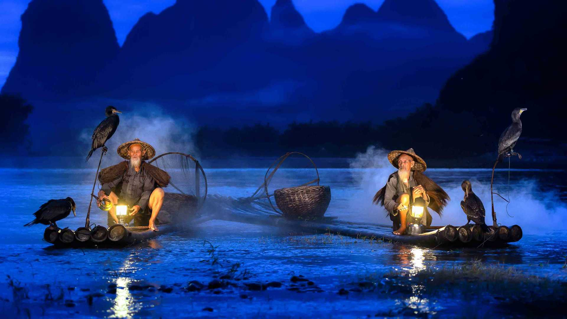 Expo 2020 – Global Best Practice Programme – traditional fishermen with cormorants