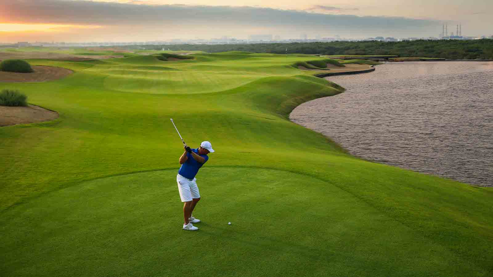 Gentleman playing golf in Ajman