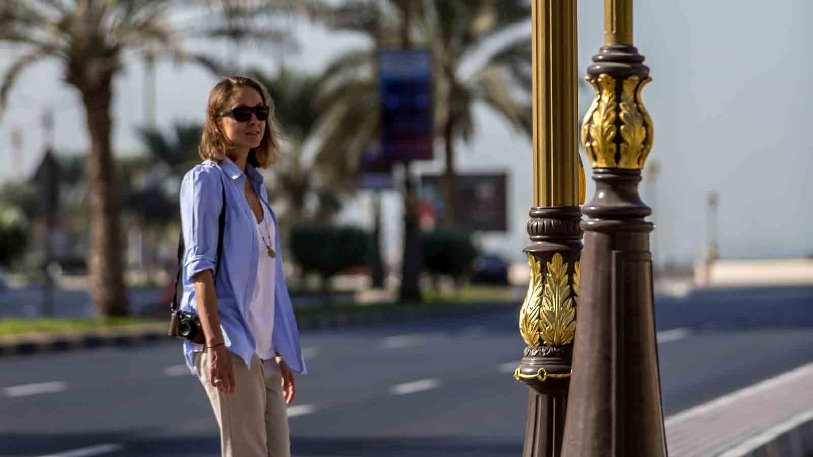 Woman on the streets of Ajman